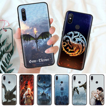 Black Silicone Case Bag Cover for Xiaomi Mi A1 A2 8 Lite Play Redmi Note 7 6 6A 5 Plus 4X Pro Poco F1 Game Of Throne jon Snow стоимость