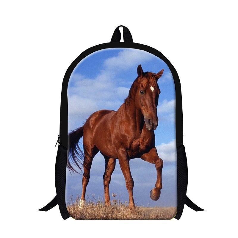 Cool plush horse printing bookbag schoolbag,boys school backpack,back pack for teen,fashion children travling bag latest design