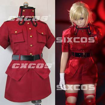 Hallowmas Christmas Game Japanese Anime Hellsing Seras Victoria Party Fashion Dress Uniform Suit Cosplay Costume Custom-made NEW