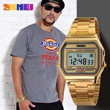 SKMEI Mannen LED Digitale Rvs Sport Horloges mannen Vrouwen Relogio Masculino Relojes Militaire Waterdichte Horloges 2019