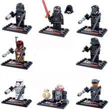 8pcs star wars super heroes marvel avengers D867 The Force Awakens building blocks model bricks toys