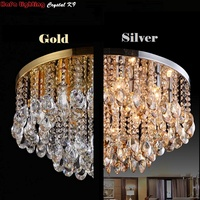 Round Crystal Ceiling Light For Living Room Indoor Lamp luminaria home decoration Crystal Ceiling Light Fixtures For Bedroom