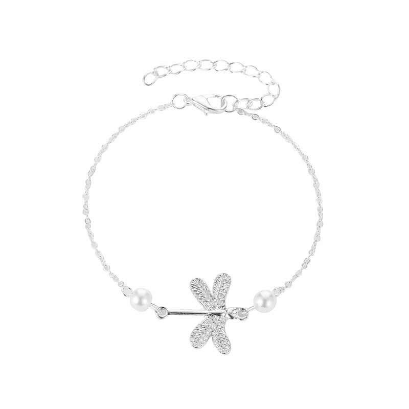 Boho стрекоза женские браслеты для щиколотки 2019 богемные браслеты с животными на ноге винтажные серебряные цвета пляжное украшение на ногу аксессуары