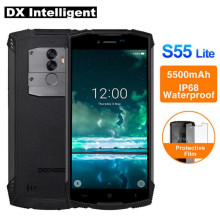DOOGEE S55 lite 4G LTE MTK6739 Quad Core IP68 Waterproof SmartPhone 5.5″ 18:9 Full Screen Android 8.1 2+16GB 13MP Dual Cams OTA