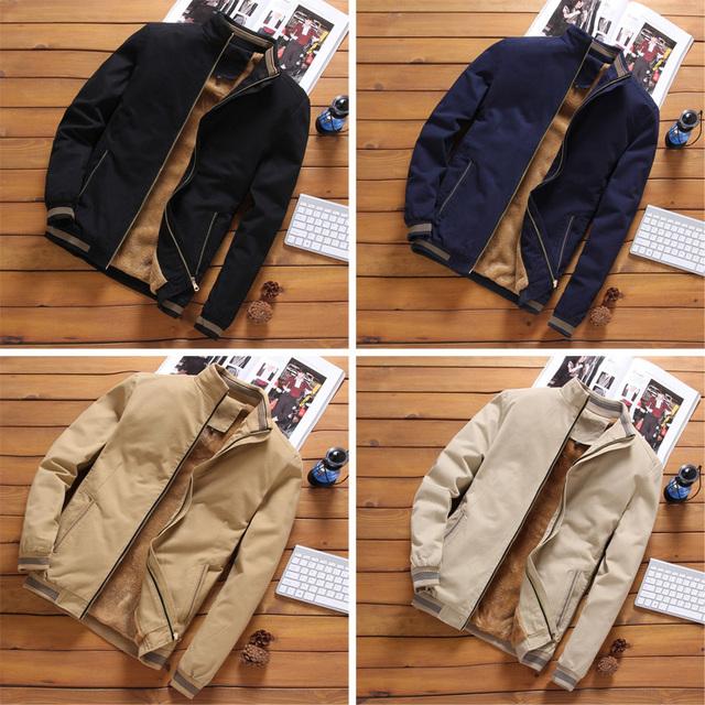 LOMAIYI Men's Winter Jacket Men Warm Fleece Lining Coat Mens Jackets And Coats Male Windbreaker Black Casual Jacket Man BM260
