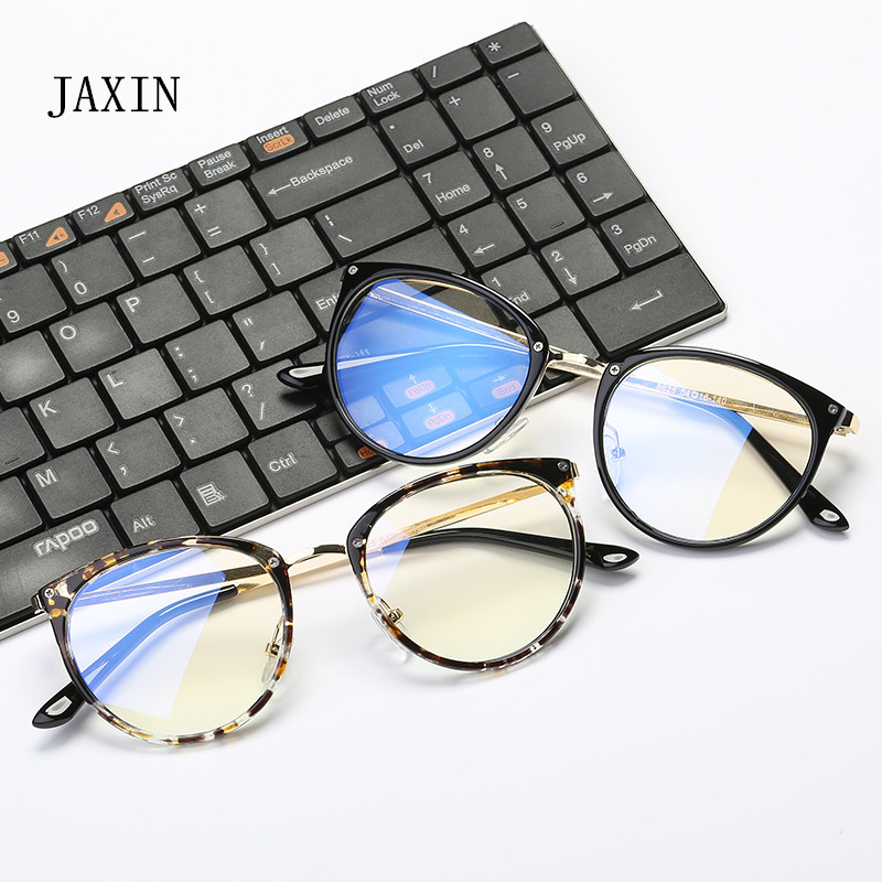 JAXIN Classic versatile computer goggles Glasses Women retro trend Sunglasses Men brand design radiation glasses UV400 okulary