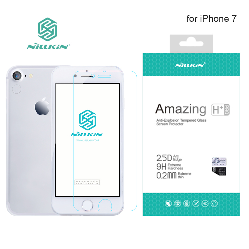 for iPhone 7 8 Nillkin 9H Amazing H+ Pro 0.2mm Ultra thin Tempered Glass Screen Protector For iPhone 8 Nilkin Glass Film|tempered glass screen protector|glass screen protector|screen protector - title=