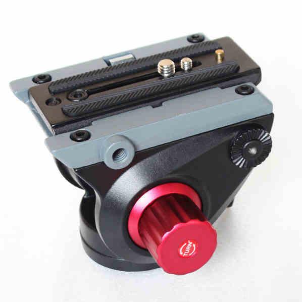 Câmera de vídeo Cabeça Cabeça do Tripé Fluido de Amortecimento Hidráulico para Controle Deslizante Filme para Manfrotto Monopé DSLR Camera Gravação De Vídeo 500AH
