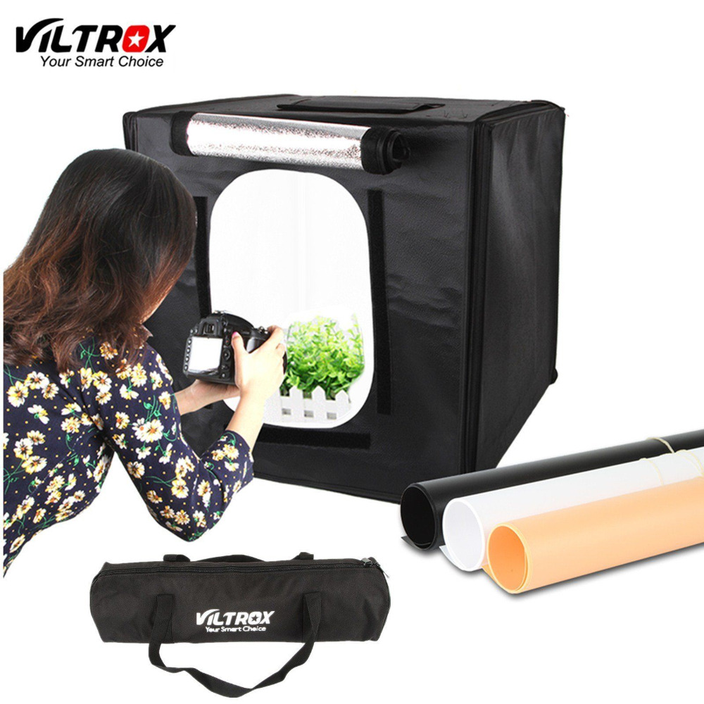Viltrox 40 40cm LED Photo Studio Softbox Light Tent Soft Box AC Adapter Backgrounds for Phone