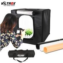 Viltrox 40*40 cm LED Photo Studio Softbox Lumière Tente Soft Box + AC Adaptateur + Milieux pour Téléphone Caméra DSLR Bijoux Jouets Chaussures