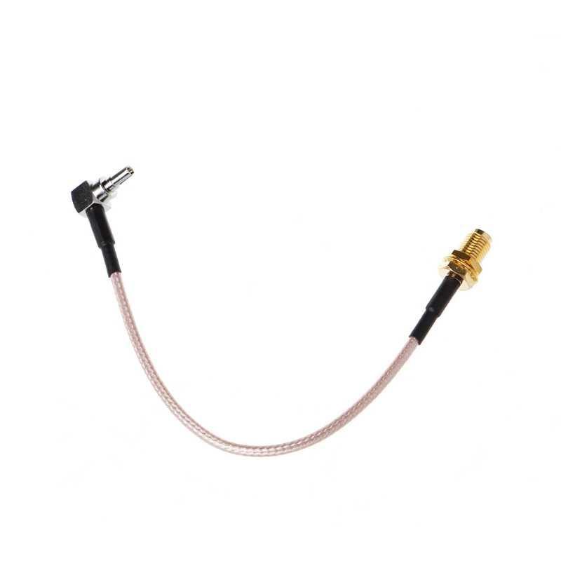 """SMA hembra a CRC9 conector de ángulo recto Cable en espiral RG316 15cm 6"""""""