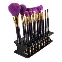 15 Hole Drying Rack Organizer Shelf Square Makeup Brush Holder Make Up Cosmetic Brush Holder Tools YO6