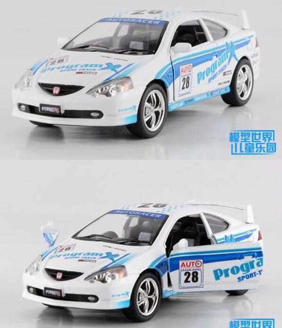 Candice guo alloy car model Kinsmart toy 1:36 Honda 8th racing auto sport vehicle plastic motor children birthday christmas gift