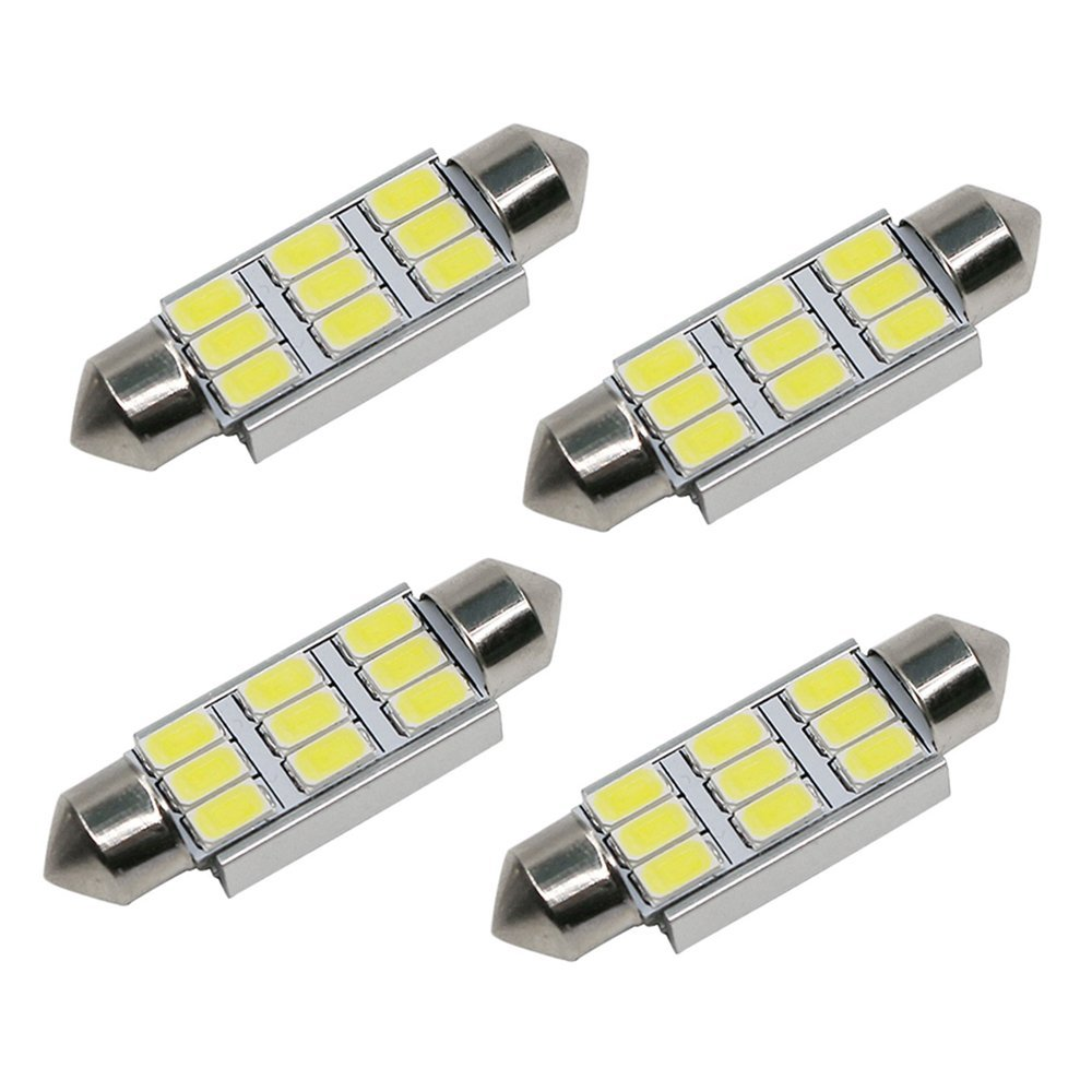 10x 36mm 39mm 41mm Festoon Dome 6418 C10W 9 SMD 5630 LED CANBUS Car led License plate Lu ...