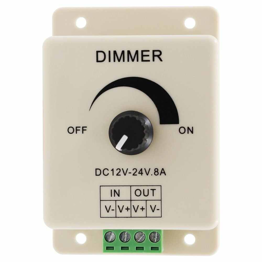 SICCSAEE Hot Selling DC 12V 8A LED Light Protect Strip Dimmer Adjustable Brightness Controller In Stock Free Shipping