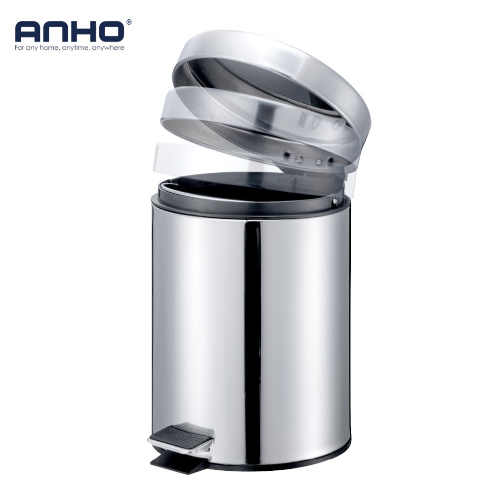 5L Trash Can Bathroom Kitchen Living Room Office Garbage Dust Bin Storage Rubbish Bucket Storage Box Pedal Waste Can недорго, оригинальная цена