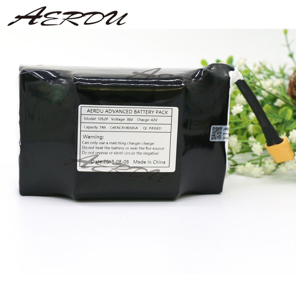 AERDU 36V 10S2P 7Ah FOR NCR18650GA High power&capacity 42V 18650 lithium battery pack scooter wheelbarrow with BMS aerdu 10s3p 36v 7 5ah high power capacity 42v 18650 lithium battery pack ebike electric car bicycle motor scooter with 15a bms