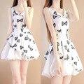 Девушки летнее платье цветочный принт подросток мода возраст 12 13 14 15 лет бальное платье партии детей платье костюм