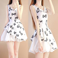 Chicas vestido de verano estampado floral adolescente moda de edad 12 13 14 15 años de edad vestido de bola de partido de los niños vestido de traje