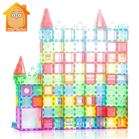 Educational Toy 72 98PCS Magnetic Tiles Transparentes Magnetic Constructor Building Blocks Toys For Kids Magnet Game