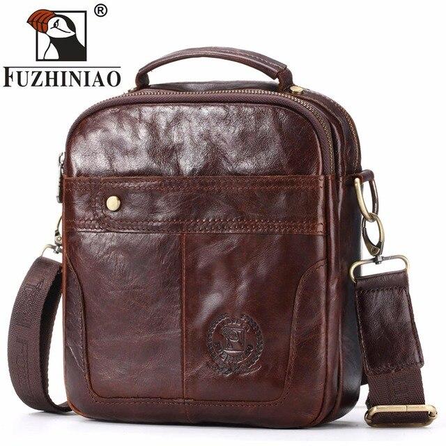 8b9dcd19ff4b US $37.52 39% OFF|FUZHINIAO Brand 2018 Moto & Biker Handbag Bags Men's  Genuine Leather Shoulder Crossbody Bag Business Satchel Men Messenger  Bags-in ...