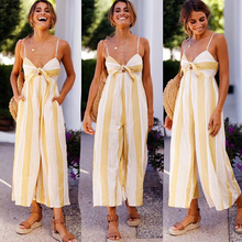 Strap Floral Printed Jumpsuit Women Casual Beach Party Yellow Rompers 2018 Summer Sexy Off Shoulder Sash Overalls