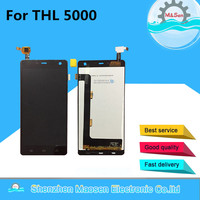 LCD Screen Display Touch Panel Digitizer For THL 5000 Black White Free Shipping