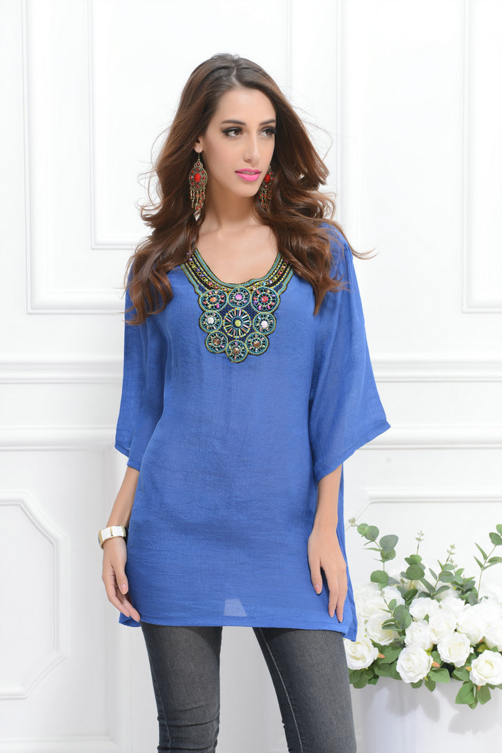 Aliexpress.com : Buy Plus size women tops new 2015 summer blouses ...