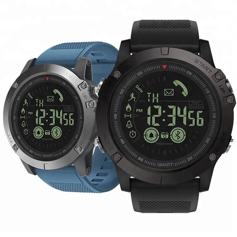 Smart Watch PLYSIN Men Outdoor Sports VIBE 3 Smartwatch with Waterproof IP67 Pedometer Calorie Counter Stopwatch