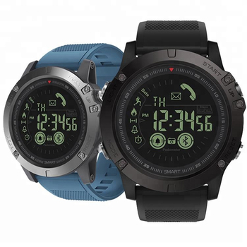 Smart  Watch PLYSIN Men Outdoor Sports VIBE 3 Smartwatch with Waterproof IP67 Pedometer Calorie Counter Stopwatch for Smartphone