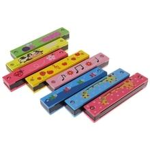 16 отверстий Милая Губная гармошка детский духовой инструмент для начинающих Музыкальная развивающая игрушка 10166