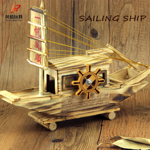 Wooden Sailboat Sailing Music Box Music Everything Is Going Smoothly Creative Home Furnishing Decoration Crafts