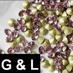 Ss11.5-ss25 Light Amethyst Color Pointback Rhinestones Glass Material Beads Used For Jewelry Nail Art Decoration ss11 5 ss25 siam color pointback rhinestones glass material beads used for jewelry nail art decoration