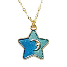 Pop Creative Moon and Star Necklaces & Pendants Cute Original Colored Necklace Women Choker Party Jewelry Girls Gift