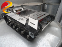 Update Version 4WD Metal Tank Car Chassis Full Metal Structure With Metal Tarck Weight 8 5KG