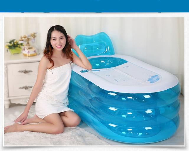 Opblaasbaar Bad Badkamer : Opblaasbare bad volwassenen schoonheid bad veilig en