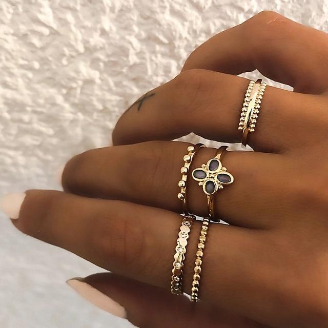 Ailend אופנה חדש זהב וכסף טבעת דוגמניות 2019 קריסטל רטרו טוויסט ארוג כסף טבעת נשים תכשיטים מתנות