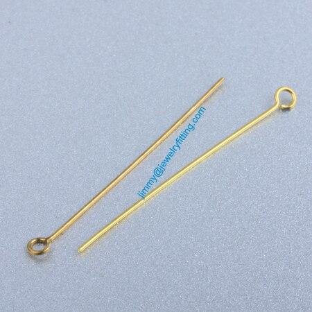 Ювелирных Изделий выводы Глаз Медными Штырьками Pins; Шарф Pins выводы 0.6*40 мм