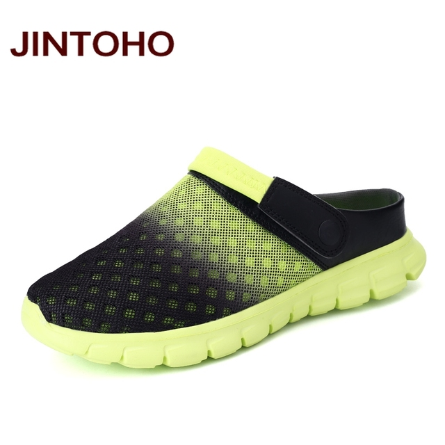 758d2b7b4b292 JINTOHO Summer Men Sandals Breathable Mesh Male Sandal Summer Beach Men  Shoes Water Male Slippers Fashion Slides Cheap Shoes