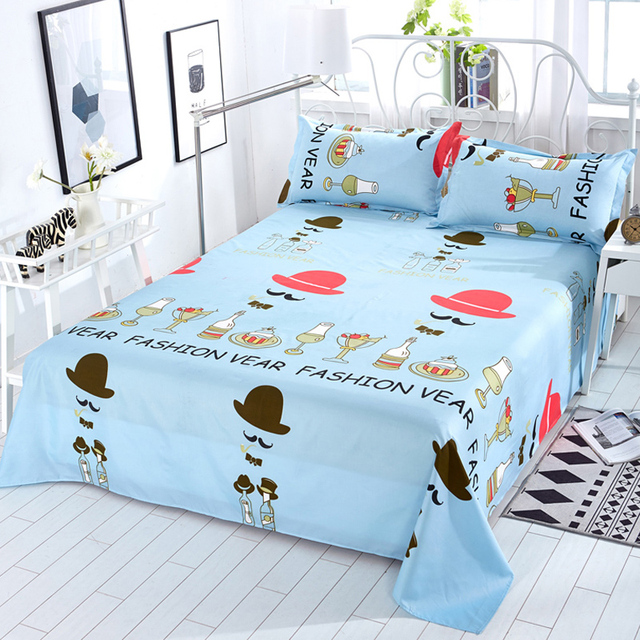 Aliexpresscom Buy Nordic Cartoon HatMoustache Bed Sheets Home