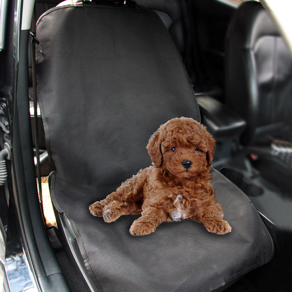 Pet Front Seat Cover for Cars WaterProof Nonslip Dog Cat Puppy Seat Protector Mat Blanket With Anchors For All Cars Trucks SUV
