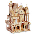 Hot Selling Fantasy Villa Wood Craft Construction 3D Wooden Puzzle  DIY Toys For Children Christma New Year Educational Gift