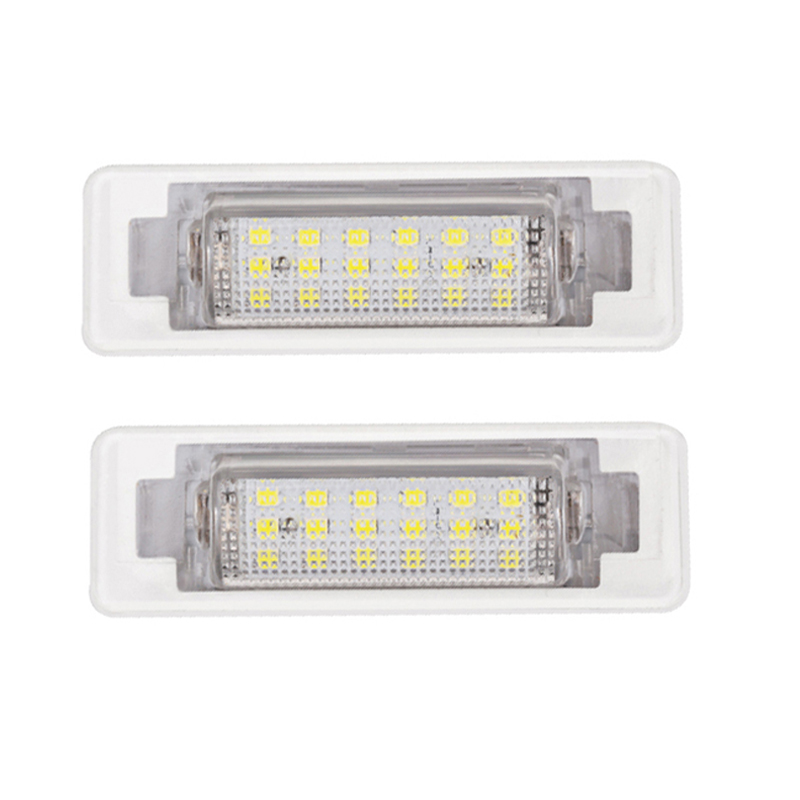2pcs For Mercedes Benz W210 <font><b>W202</b></font> E300 E55 C230 <font><b>LED</b></font> Number License Plate Lights Lamp No Error 12V 6500k White License Light image