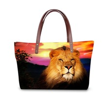 цены на Handbag for Women 2019 Bags Shoulder Bag Beach Bag  3D Lion Pattern Design  в интернет-магазинах