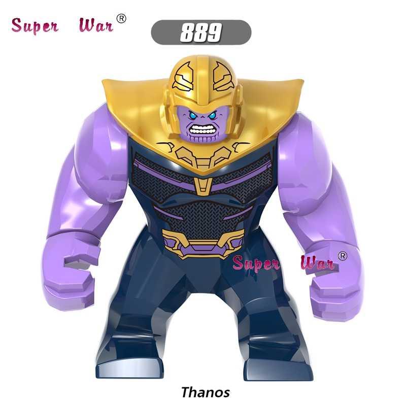 シングルアベンジャーズ無限大戦争スーパーヒーロー 7 センチメートルビッグサイズ Thanos さんハルクカル黒曜石モデルのビルディングブロックのおもちゃ子供