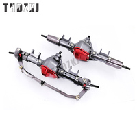 1Set 1/10 Rc Car Complete Alloy Front And Rear Axle With Arm CNC Machined For 1:10 Rc Crawler AXIAL SCX10 RC4WD F222