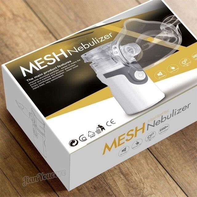 Mini Handheld portable autoclean Inhale Nebulizer Mesh atomizer silent inhaler nebuliser inhalator for kids nebulizador portatil 5