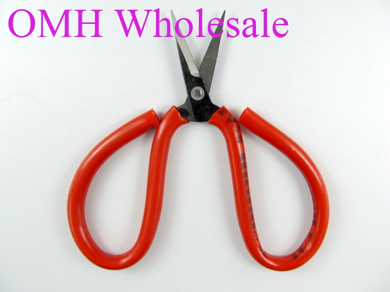 OMH wholesale 12x7.8x0.6cm steel long Sharp mouth portable scissors jewelry tool can office / household PJ429 discount