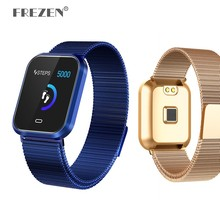 Magnetic Steel Strap Smart Watch CD16 Sport Wristband IP67 Waterproof Heart Rate Blood Pressure Monitor Bracelet for IOS Android
