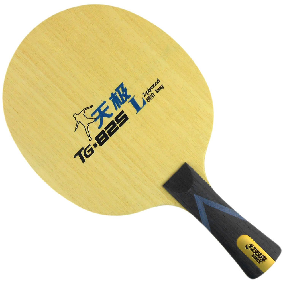 DHS TG-825 Shakehand-FL (Long Handle) Table Tennis / PingPong Blade lkt will power l 1007 arylate carbon table tennis blade shakehand for pingpong racket shakehand long handle fl